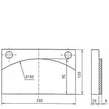 ICP Brake Pad Replaces Pintsch Bubenzer BAC 50 + 60 + 80 Moulded Organic Brake Pad