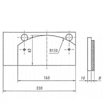 ICP Brake Pad Replaces Pintsch Bubenzer BAC 6.1 Moulded Organic Brake Pad