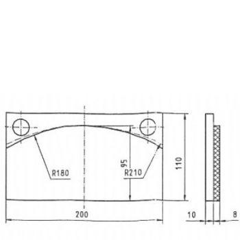 ICP Brake Pad Replaces Pintsch Bubenzer BAC 8.1 Moulded Organic Brake Pad