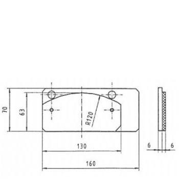 ICP Brake Pad Replaces Pintsch Bubenzer BSC 50.2 + BAC 5.1 Moulded Organic Brake Pad