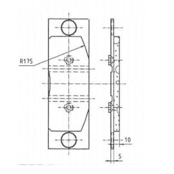 ICP Brake Pad Replaces Pintsch Bubenzer SB 14.1 Moulded Organic Brake Pad