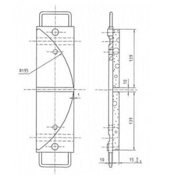 ICP Brake Pad Replaces Pintsch Bubenzer SB 14.21.1 Moulded Organic Brake Pad