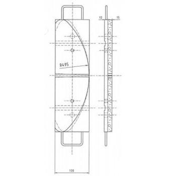 ICP Brake Pad Replaces Pintsch Bubenzer SB 14.6 Moulded Organic Brake Pad