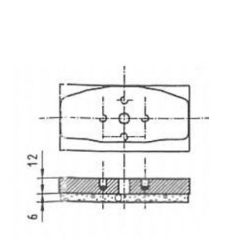 ICP Brake Pad Replaces Pintsch Bubenzer SB 17MX, SB 14.11 Moulded Organic Brake Pad