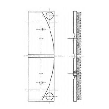 ICP Brake Pad Replaces Pintsch Bubenzer SB 28 Moulded Organic Brake Pad