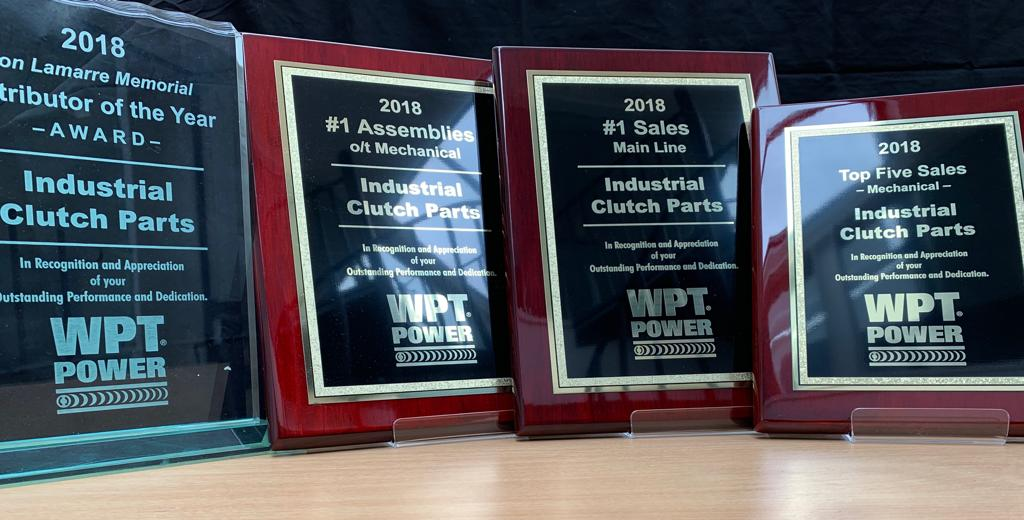 Industrial Clutch Parts ltd Distributor of the year 2018